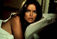 Barbara Bach as Anya Amasova and appearing in 1977's The Spy Who Loved Me,