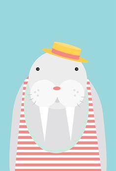 arctic animal postcards. fun to hang as a group