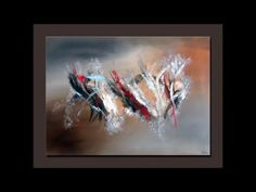 Démonstration peinture abstraite (7) - Abstract acrylic painting - Althea - YouTube