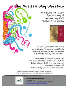 The Artist's Way Workshop - Wednesday at 7:00pm, April 13-May 25