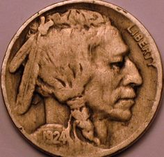1924 P Buffalo Nickel Very Fine Coins make Cents by riggsbyscorner