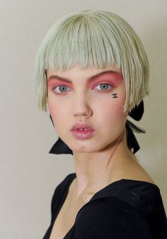 Chanel Resort 2013 Beauty: Bowl Cuts and Pink Eyeshadow