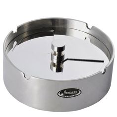 Ashtray, Newness Stainless Steel Tabletop Decoration Unbreakable Home Ashtray with Detachable Rotating Lid, Small Size -- To view further, visit now : Decor Ashtrays