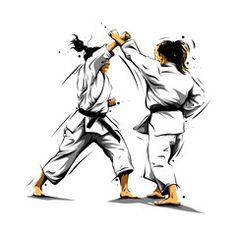 karate action 4 – Acquista questo vettoriale stock ed esplora vettoriali simili … karate action 4 – Buy this vector stock and explore similar vector in Adobe Stock Shotokan Karate, Karate Kata, Kyokushin Karate, Taekwondo Girl, Karate Girl, Jiu Jitsu, Karate Kumite, Karate Dojo, Female Martial Artists