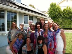 Wow. Ga-zow. Here is another group of spirited women getting together. This time in Orange County, CA. Celebrating creativity. All wearing our Painted Muse scarves. The day was glorious. Many of the women participated in our virtual ceremony too! www.thespiritedwoman.com/prayer_scarf