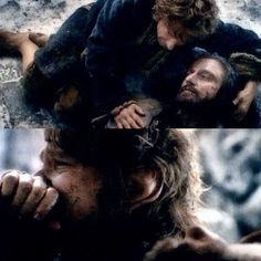 "Thorin:""I am sorry that I made you a part of my perils..."" Bilbo:""No! I am glad to have shared in your perils - that is more than any Baggins deserves!"" [last words] Thorin :""Farewell, Master Burgular; Go back to your books, your armchair, your fireplace. Plant your trees, watch them grow. If more of us valued home above gold, it would be a merrier world."" Bilbo:""No, no, no..Thorin! Don't you dare..! Look! Thorin, the Eagles! The Eagles are here...!—The Hobbit: Battle of the Five Armies"