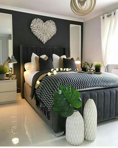 Stylish Bedroom, Modern Bedroom, Minimalist Bedroom, Modern Minimalist, Modern Wall, Home Interior, Interior Design, Interior Ideas, Home Design