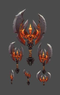 ArtStation - Demon Axe, Matteo Bassini