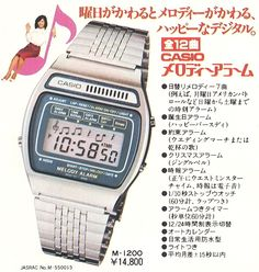 Be it functionality or style, Casio Watches already have it all. Once you know what exactly you desire, some online detective work on the net will help you find very good prices. Retro Watches, Old Watches, Vintage Watches, Watches For Men, Wrist Watches, Retro Advertising, Retro Ads, Vintage Ads, Seiko Vintage