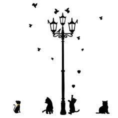 Songmics Wandaufkleber Laterne Katze und Straße Licht 150 x 130cm Schwarz FWT15H Songmics http://www.amazon.de/dp/B00G31EZY2/ref=cm_sw_r_pi_dp_-iNNwb1JAB7JE