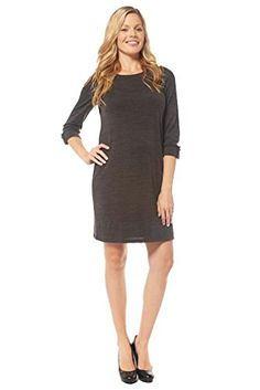 a10166d04e7 Jules And Jim Button Shoulder Maternity Sweater Dress Charcoal Large   gt  gt  gt