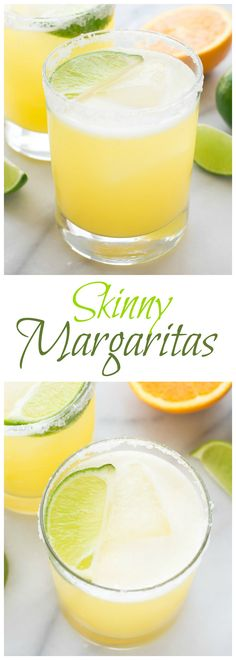 Skinny Margarita recipe — all of the refreshing margarita taste without the calories! Made simply with fresh juices, agave, and tequila. Get the recipe at www.wellplated.com @wellplated