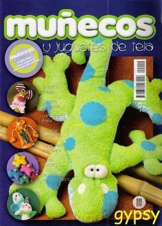 Revistas de manualidades Gratis: Como hacer muñecos y juguetes de tela Felt Crafts, Fabric Crafts, Animal Magazines, Sewing Magazines, Soft Dolls, Soft Sculpture, Stuffed Toys Patterns, Plushies, Dinosaur Stuffed Animal