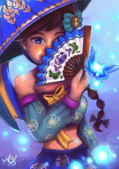 Mihyang ( sky dancing ) : Paint tool Sai : 2 days : Summoners war fanart #SummonnerswarCollection