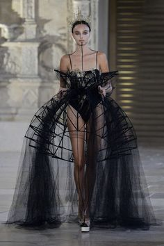The Best of Haute Couture via Fashion Weeks, Fall – Winter Georgia Papad. - The Best of Haute Couture via Fashion Weeks, Fall – Winter Georgia Papadon Runway Fashion, Fashion Art, Autumn Fashion, Fashion Outfits, Fashion Trends, Fashion Fashion, High Fashion Dresses, High Fashion Style, Gothic High Fashion