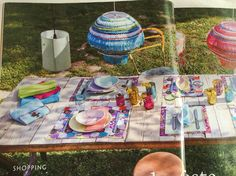 Colourful dinning table