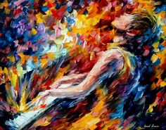 """Music Fight"" by Leonid Afremov"