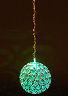 Maison & garden - Solar powered hanging bead orb light