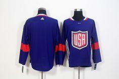 Team USA Blank Navy Blue 2016 World Cup NHL Jersey ee6d12b08