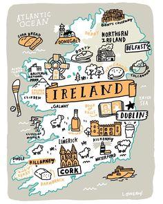 wanderlust dibujos Mike L - wanderlust Travel Maps, Train Travel, Places To Travel, Ireland Map, Ireland Travel, Scotland Travel, Clifden Ireland, Uk And Ie Destinations, Train Tour