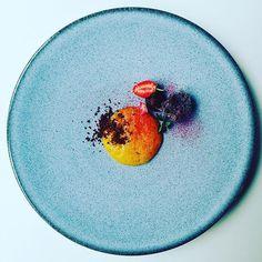 Mango Mousse with vanilla and ginger, açai sponge cake, raspberry ganache, chocolate crumble, raspberry powder, vanilla oil and oxalis. Inspired by @alexatala #instafood #TheArtOfPlating #foodporn #foodstagram #brazil #kitchen #chef #chefstalk #chefsroll
