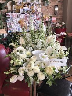 Blooms Florist, Funeral, Floral Wreath, Wreaths, Table Decorations, Photo And Video, Beautiful, Instagram, Home Decor