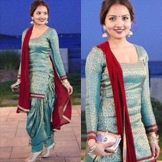 New Punjabi Suit Design Patiala Dress, Punjabi Dress, Patiala Salwar, Pakistani Dresses, Indian Dresses, Anarkali, New Punjabi Suit, Punjabi Salwar Suits, Indian Suits