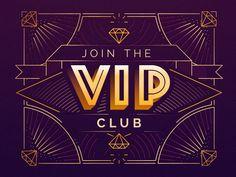 The VIP Club by Gabrielle #Design Popular #Dribbble #shots