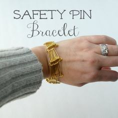 Make a cool, edgy bracelet in a few minutes, just from safety pins.
