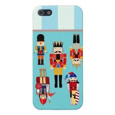 Nutcrackers Soldiers with Custom Name - Aqua iPhone 5/5S Cover