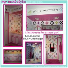 Design Dazzle: Louis Vuitton Teen Bathroom