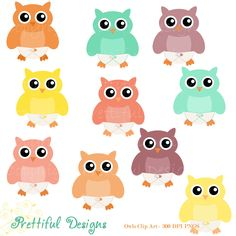 Baby Owl Clip Art Diaper Owl Clipart Digital Scrapbooking CU Ok Instant Download