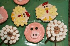Farm animal cupcakes...do I really want to take the time to make these?
