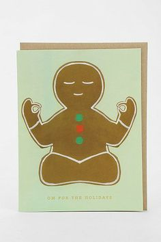 Gingerbread Om Holiday Card