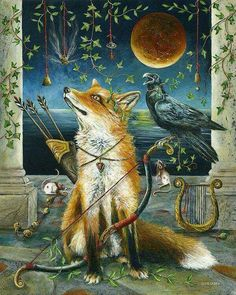 The fox and raven...beautiful