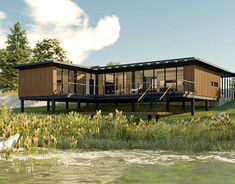 Timber Structure, Wood Siding, Lake View, Black Wood, Design Process, Facade, Pergola, Behance, Profile