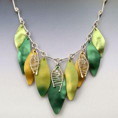 Anodized aluminum necklace