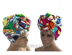 Extra long Made in Africa handmade Patchwork fabric head wrap/ African Head wraps/ African hair accessory fabric/ African Head scarf/ HT116 by TessWorldDesigns on Etsy