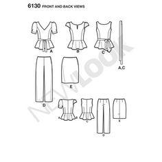 New Look Pattern 6130 Misses' Sportswear