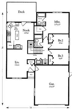 Houseplans.com Main Floor Plan Plan #409-114