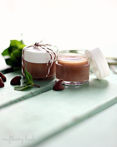 Chocolate mint homemade lip balm - might have to try this... sounds yummy enough!