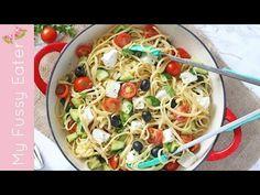 Greek Salad Linguine - My Fussy Eater