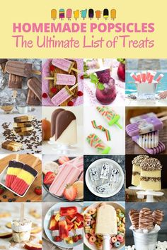 Homemade popsicles are REALLY easy to make! This collection of 40 popsicle recipes is guaranteed to have something you'll love! Cheesecake Popsicles, Coffee Popsicles, Raspberry Cheesecake, Coconut Pudding, Homemade Popsicles, S'mores Bar, Popsicle Recipes, Fun Easy Recipes, Summer Treats