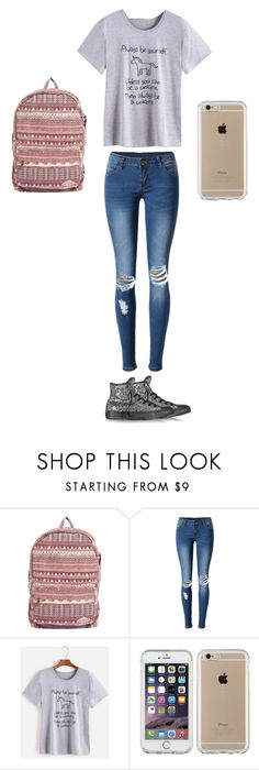 """""""School Outfit"""" by smileforever1654 ❤ liked on Polyvore featuring Billabong, WithChic, Speck and Converse"""