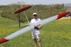 Pro pilot Paul Naton of Radio Carbon Art Productions with one of his ICON 2 F3J gliders