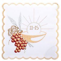 Servicio de altar 4pz. Símbolos IHS espigas y uvas   venta online en HOLYART