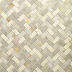 Artistic Tile - STONE Four Color Herringbone Mixed Finish Mosaic