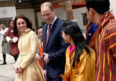 Pin for Later: Kate Middleton Chose a Mellow-Yellow Coat Dress For the Plane Ride to Bhutan