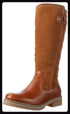 Tamaris Damen 26605 Langschaft Stiefel, Braun (Nut 440), 42 EU - Stiefel