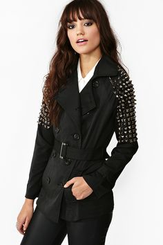Spiked Trench Coat